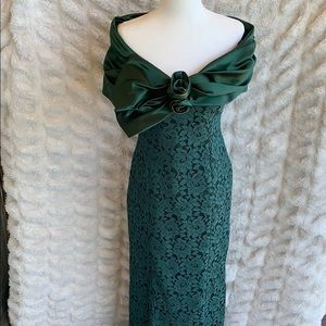 Pearl forest green Women's Prom/formal dress